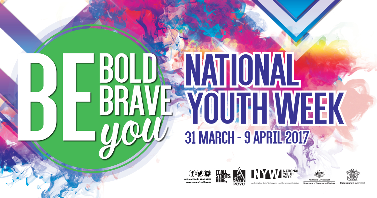 National Youth Week is 31 March to 9 April 2017