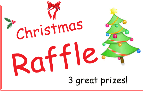 Christmas raffle with 3 great prizes