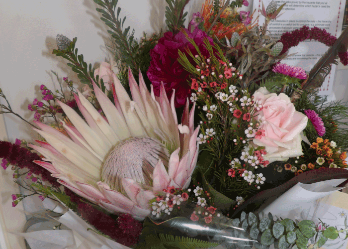Floral display at the Spiral 35th anniversary celebrations